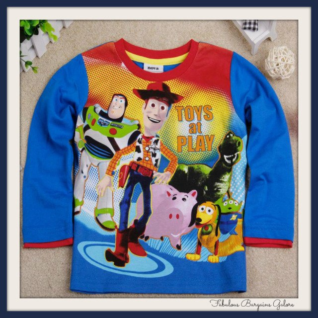 Boys toy story t shirt for 4-5 year olds-Fabulous Bargains Galore