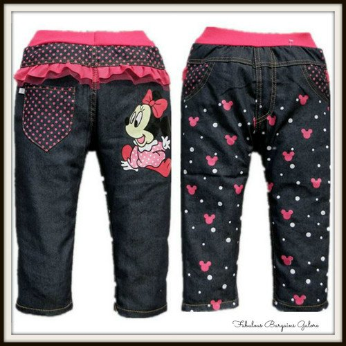 Cute Heart Print Girls Black Trouser-Fabulous Bargains Galore