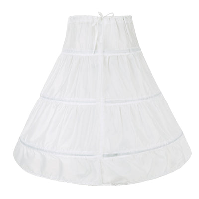 Little girls petticoat in white with hoops-Fabulous Bargains Galore