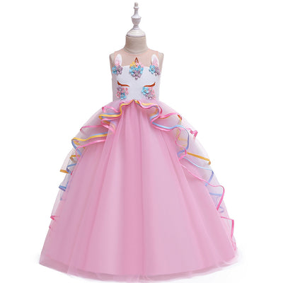 Unicorn flower girl dress for 5-16 year olds-Fabulous Bargains Galore