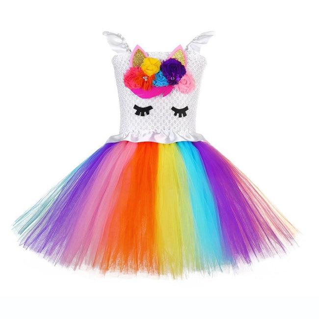 Unicorn dress for 1 year old in rainbow-Fabulous Bargains Galore