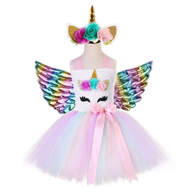 Unicorn outfit toddler with fairy wings 12 months-Fabulous Bargains Galore