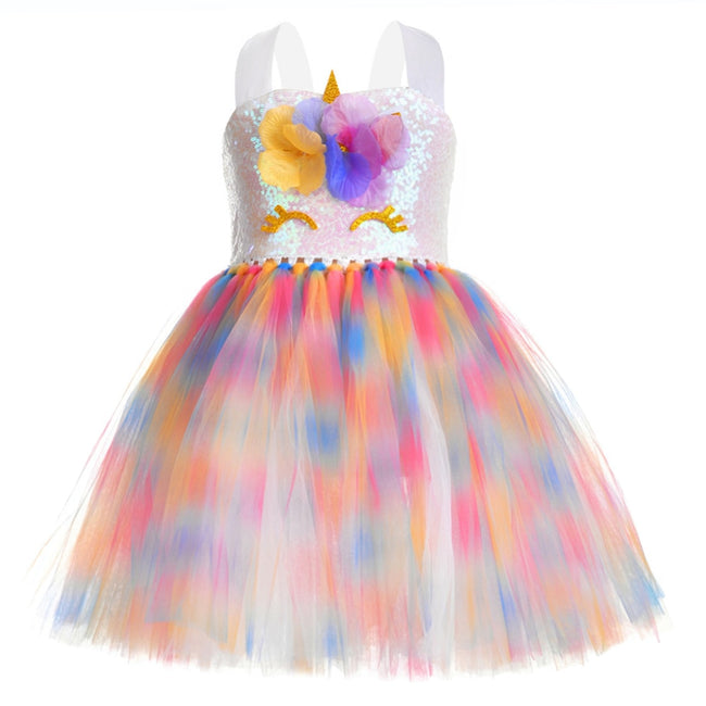 Unicorn dress for birthday party up to age 12 years-Fabulous Bargains Galore