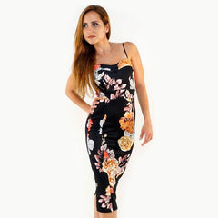 Floral camisole sleeveless womens summer dress