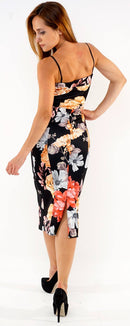 Floral camisole sleeveless womens summer dress-Fabulous Bargains Galore