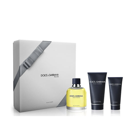 D&G Pour Homme 3 Pcs Gift Set Men 4.2 Oz EDT,3.4 Oz After Shave Balm and 1.7 Oz Shower Gel