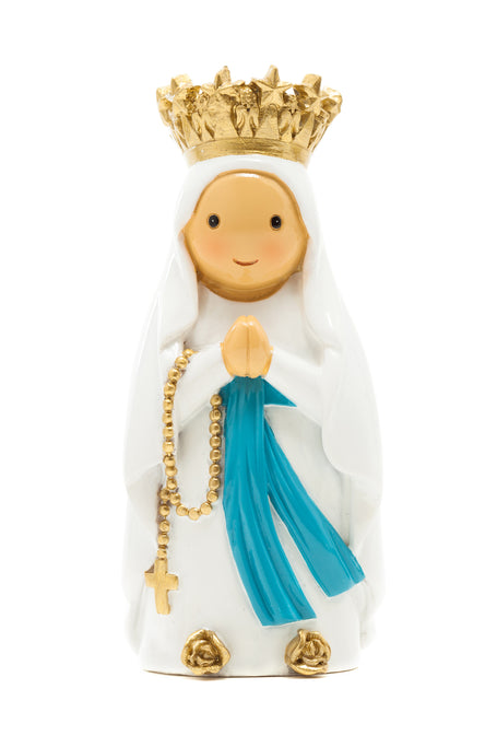 Lady of Lourdes with crown statue (Pre-order) - Little Drops of Water