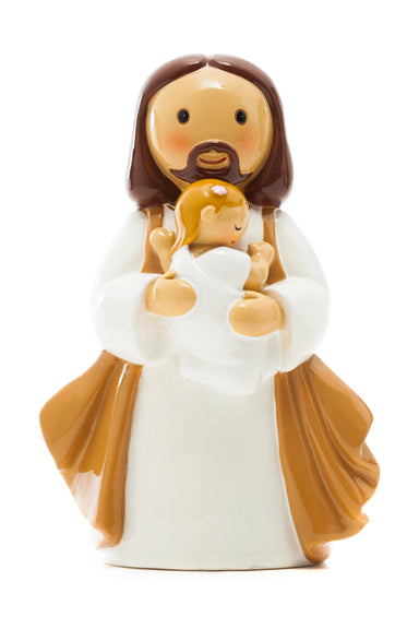 Baptised into Christ baby girl statue - Little Drops of Water