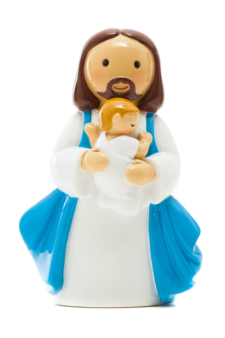 Baptised into Christ baby boy statue - Little Drops of Water