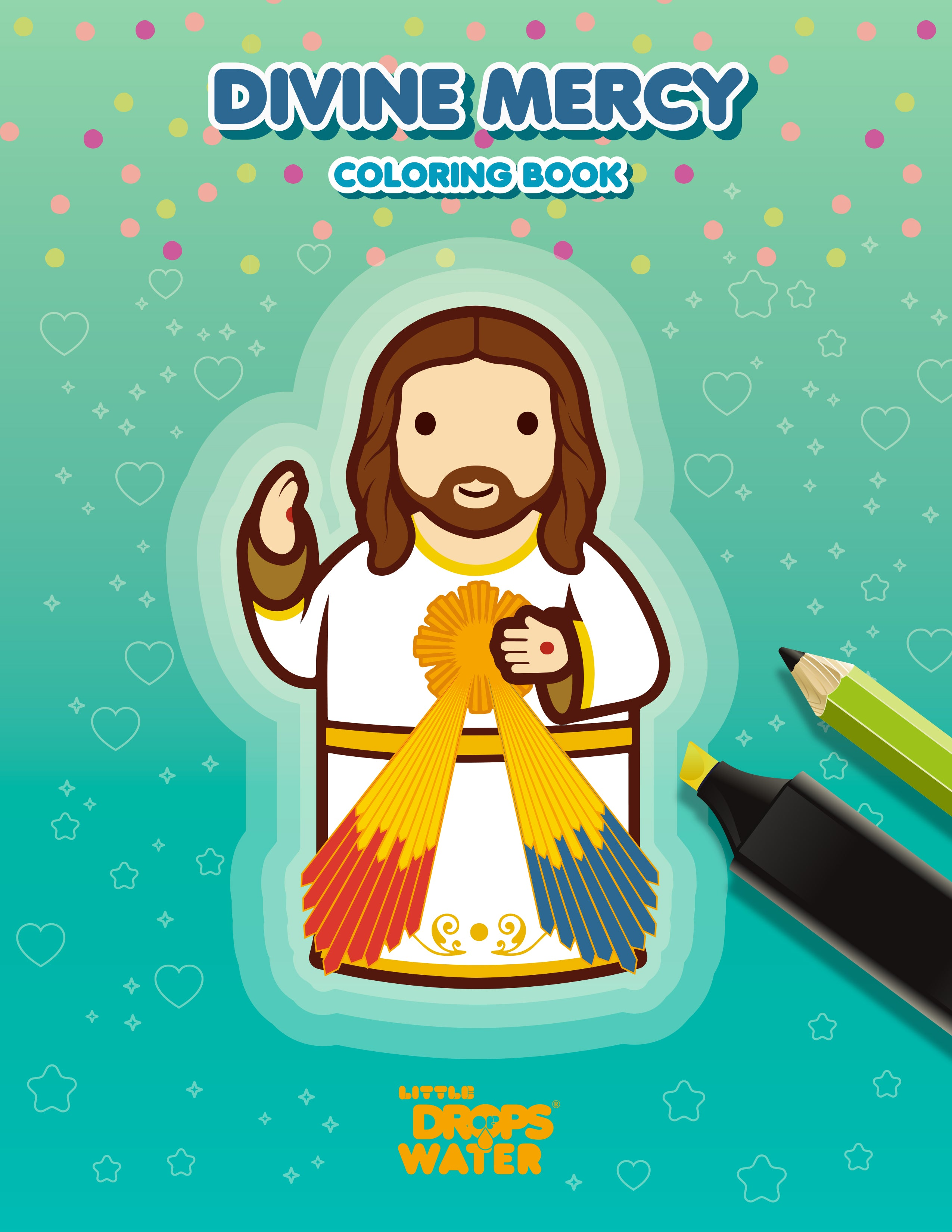 Divine Mercy colouring pages