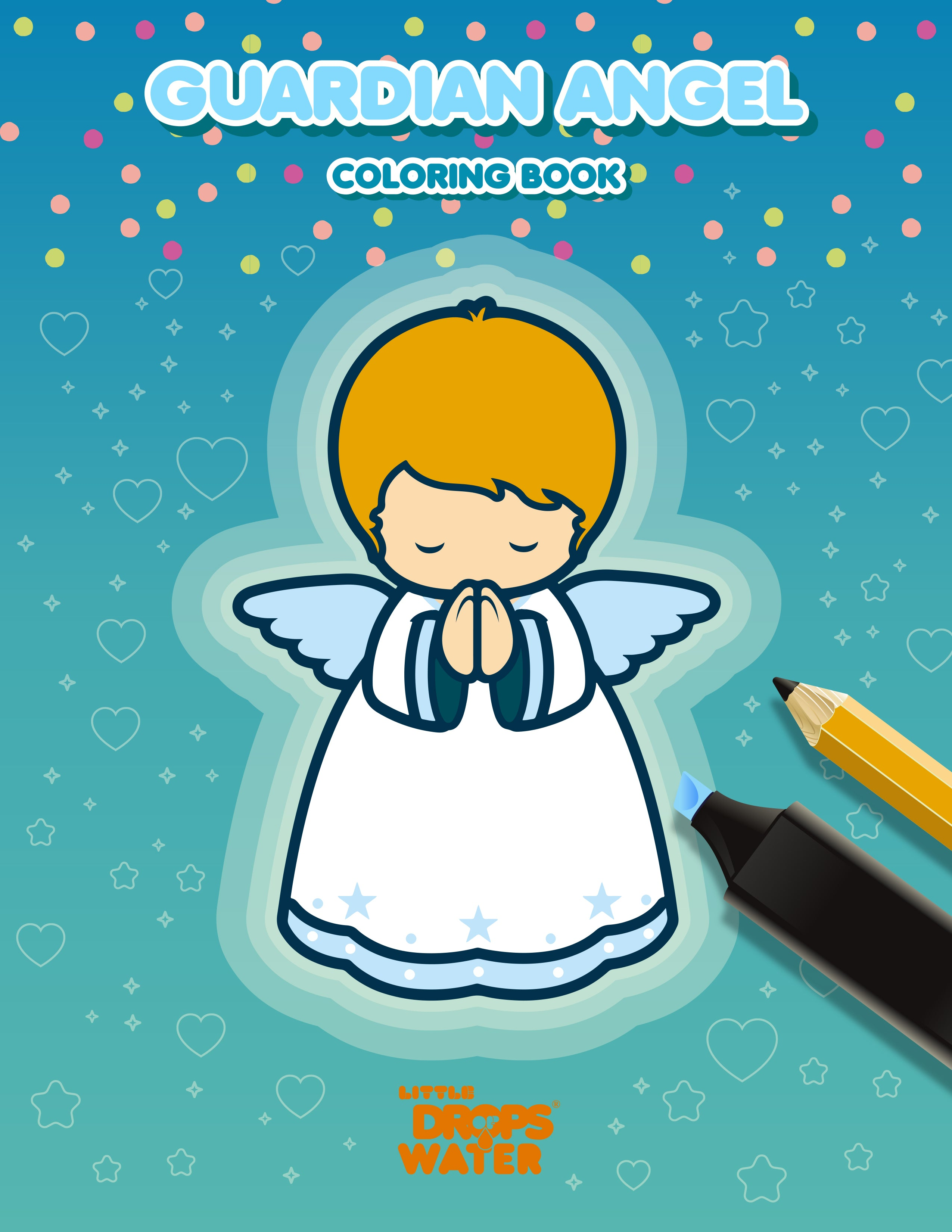 Baby boy angel e-colouring book