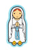 Lady of Lourdes fridge magnet - Little Drops of Water