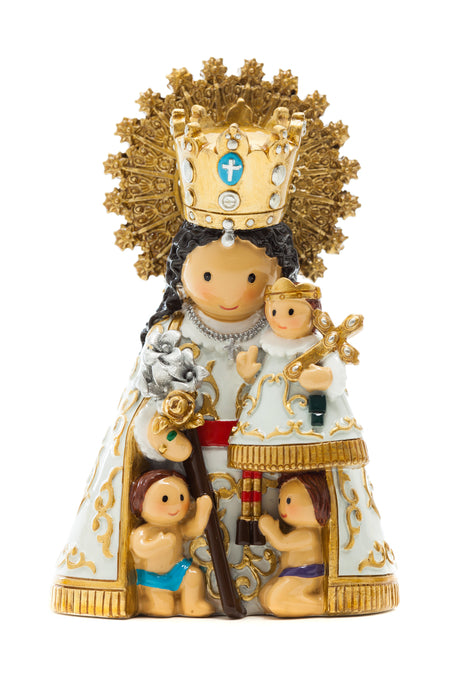 Our Lady of the Forsaken statue (Packaging is in Spanish) - Little Drops of Water
