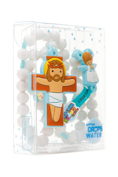 Baby boy angel rosary - Little Drops of Water