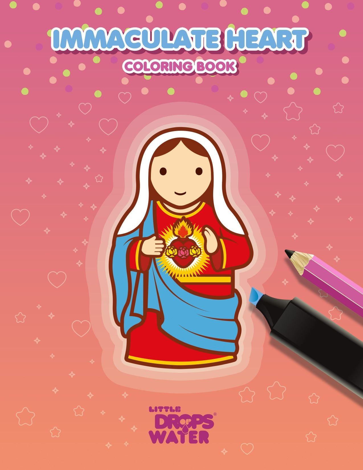 Immaculate Heart colouring e-book