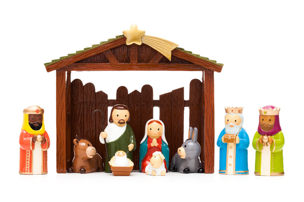 Nativity set 9 pcs + stable
