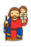 St. Christopher Fridge magnet - Little Drops of Water