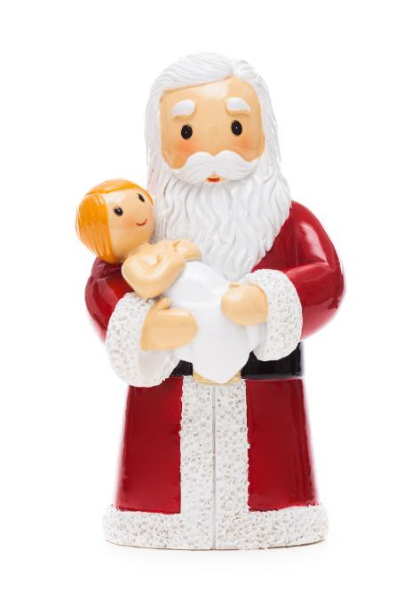 Santa holding baby Jesus statue - Little Drops of Water