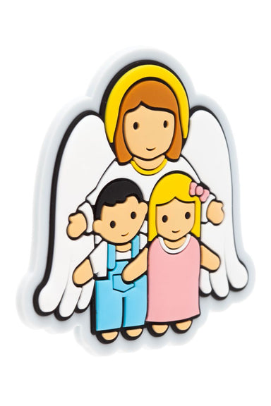 Guardian angel with children PVC magnet - Little Drops of Water