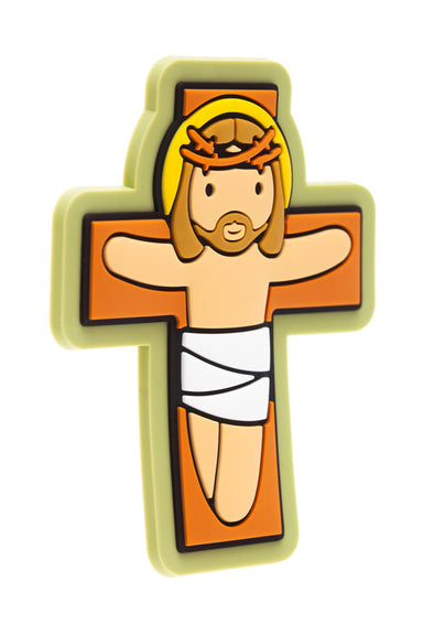 Jesus on the cross fridge magnet - Little Drops of Water