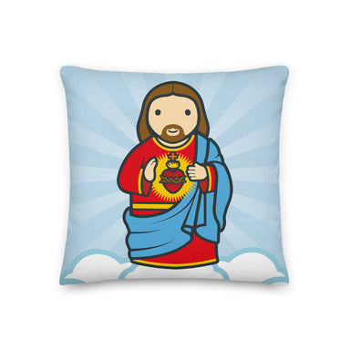 Sacred Heart Premium Pillow - Little Drops of Water