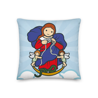 Mary Untier of Knots Premium Pillow - Little Drops of Water