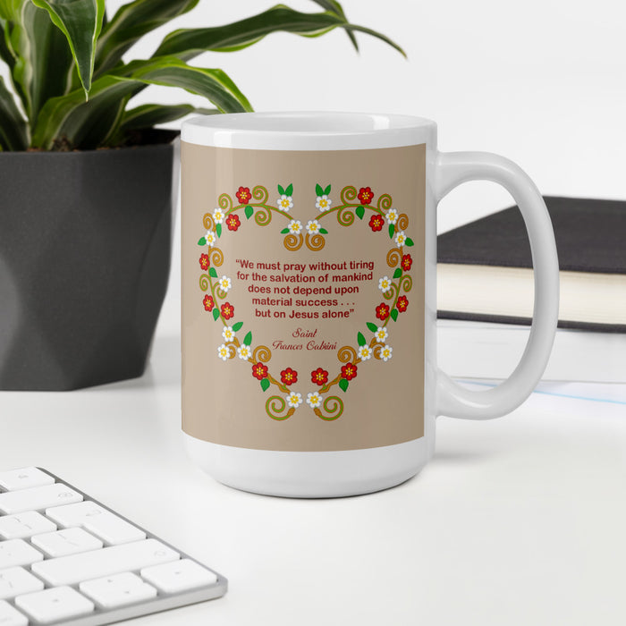 Saint Frances Cabrini mug - Little Drops of Water