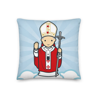 Saint John Paul II Premium Pillow - Little Drops of Water