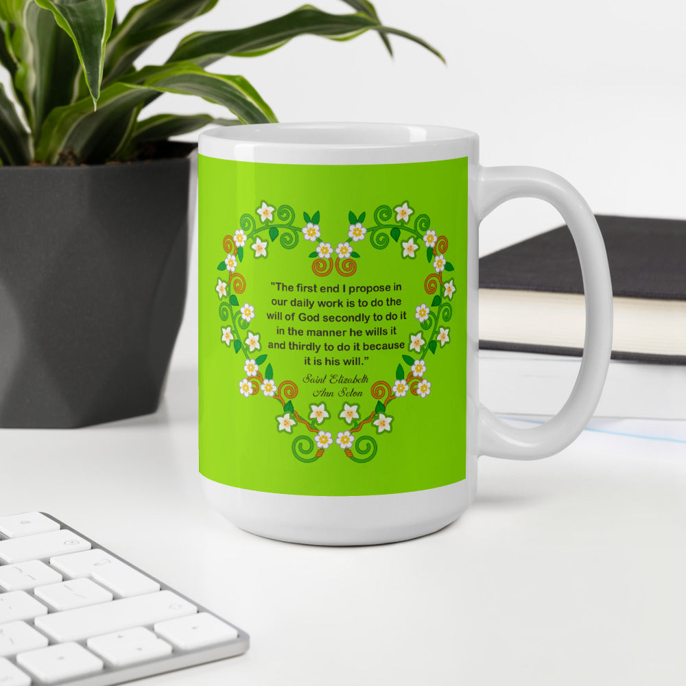 Saint Elizabeth Ann Seton mug - Little Drops of Water