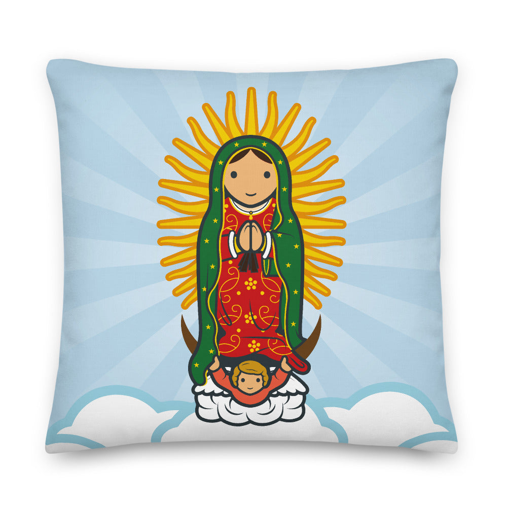 Lady of Guadalupe Premium Pillow - Little Drops of Water