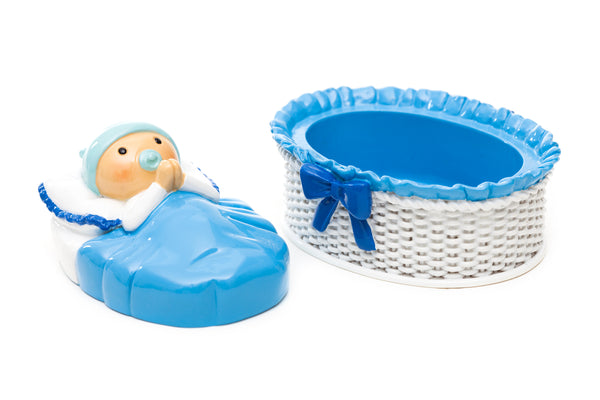 Keepsake box (white basket) baby boy - Little Drops of Water