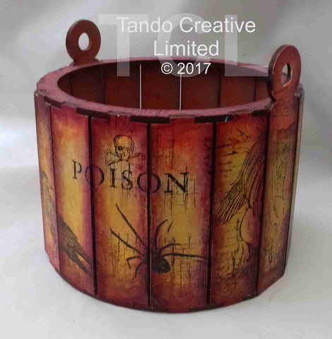 Tando Creative 3D Round Basket Box Small