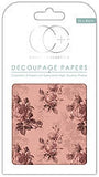 Pink Rose Decoupage Paper 35 x 40cm pk 3 By Craft Consortium CCDECP006