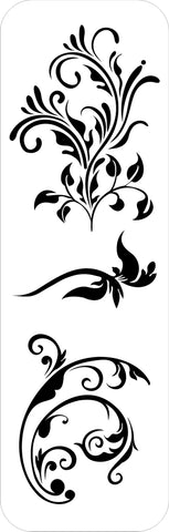 Tando Creative Mask - Long Flourish Stencil