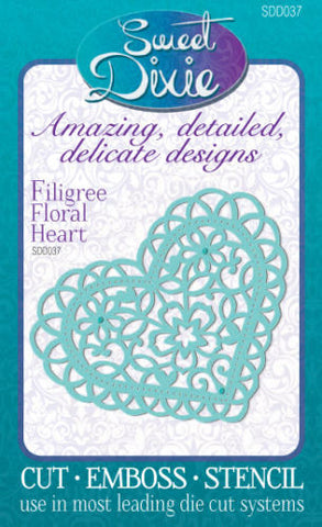 Filigree Floral Heart Sweet Dixie SDD037