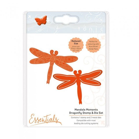 Mandala Moments Dragonfly Die and Stamp Set Tonic Studios 1549e