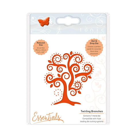 Essentials - Twirling Branches Dot & Drop Die - 2013E