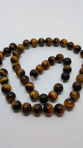Natural Tiger Eye Round Beads Grade A 8mm Approx 43pcs TRC400