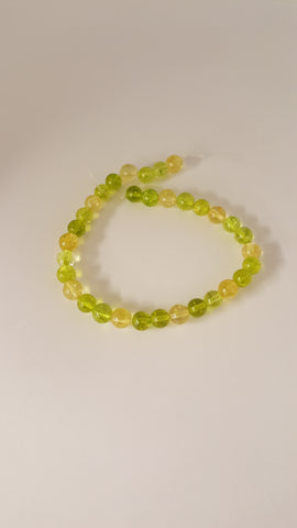 Gemstone Beads Citrine and Olive Quartz, Round, Mixed Stone, 6mm Approx 30pcs TRC413