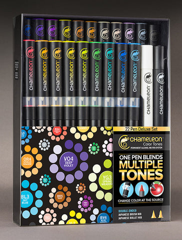 Full Set 22 Pen Deluxe Set By Chameleon CT2201