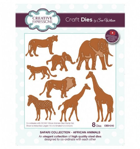 African Animals Safari Collection Dies Sue Wilson Creative Expressions CED1310
