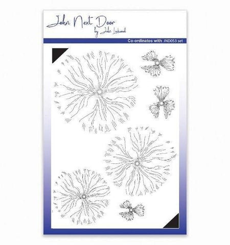 John Next Door Clear Stamp - Blousy Poppy JND054