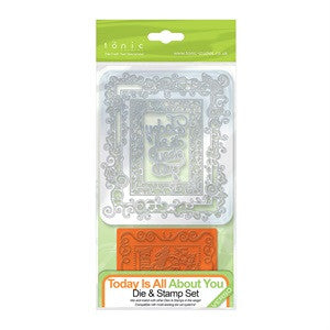 DIE & STAMP FRAMES - TODAY IS ALL ABOUT YOU - 1038E