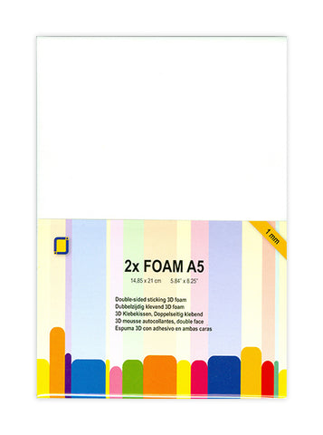 Foam A5 x2 Sheets 1mm By Crafts Too 3.3241
