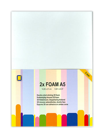 Foam A5 x2 Sheets 2mm By Crafts Too 3.3242