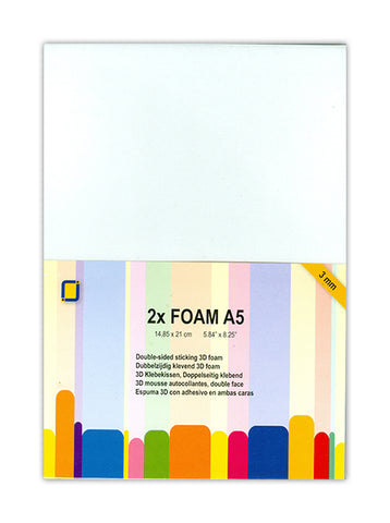 Foam A5 x2 Sheets 3mm By Crafts Too 3.3243