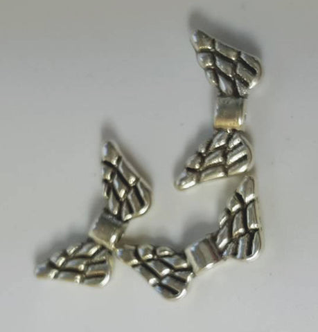 Antique Silver Wing Beads, Lead and Cadmium Free, about 7x14mm TRC328