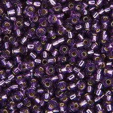 Amethyst Silver Lined Miyuki Seed Beads 15/0 Approx 22g TRC345