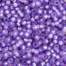 Lilac S/L Opal Dyed Alabaster Miyuki Seed Beads 15/0 Approx 22g TRC360
