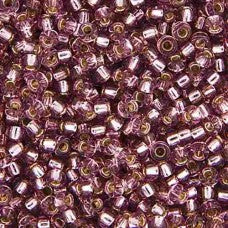 Smoky Amethyst Silver Lined Miyuki Seed Beads 15/0 Approx 22g TRC365